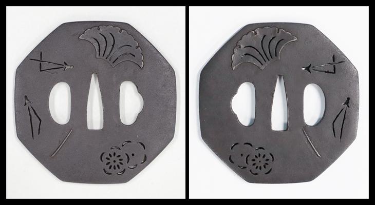 鐔:四方剣丸紋繋透図